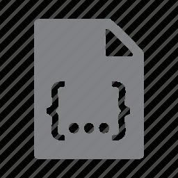 css, file, filetype, format, js, script icon
