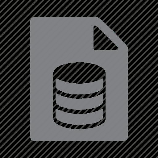 database, db, file, filetype, format, sql icon
