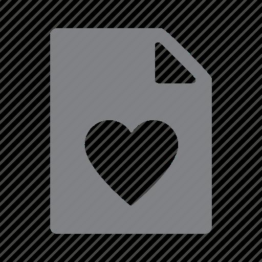 favourites, file, heart icon