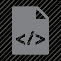 css, file, filetype, html, js, json, script icon