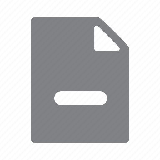 file, minus, remove icon