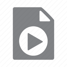 avi, file, filetype, format, mov, mp4, play icon