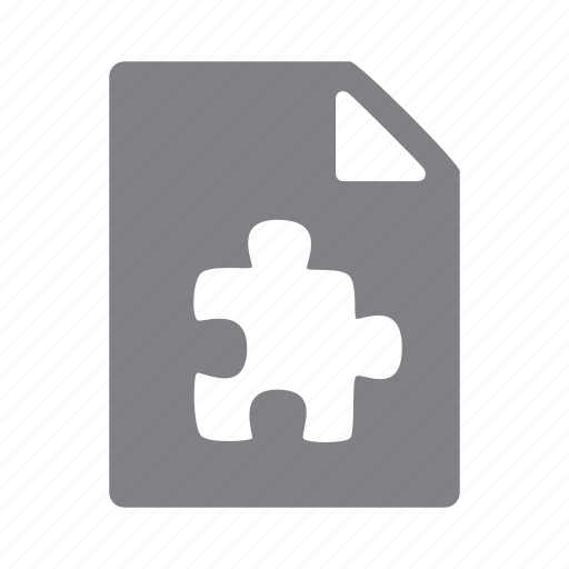 file, format, puzzle icon