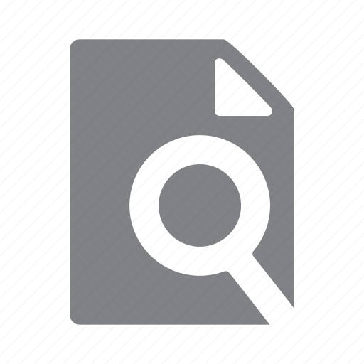 file, find, format, magnifier, search, zoom icon