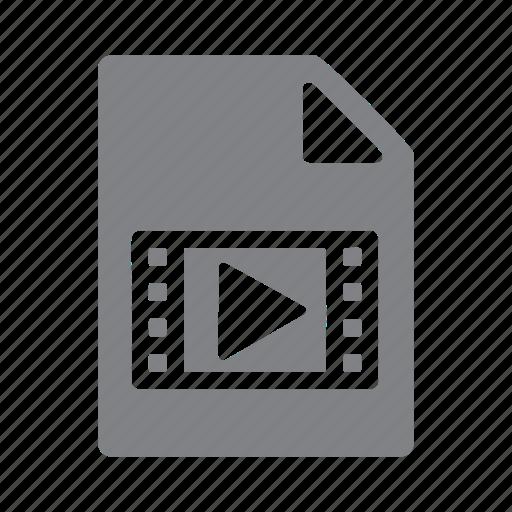 avi, file, filetype, format, mov, mp4, video icon