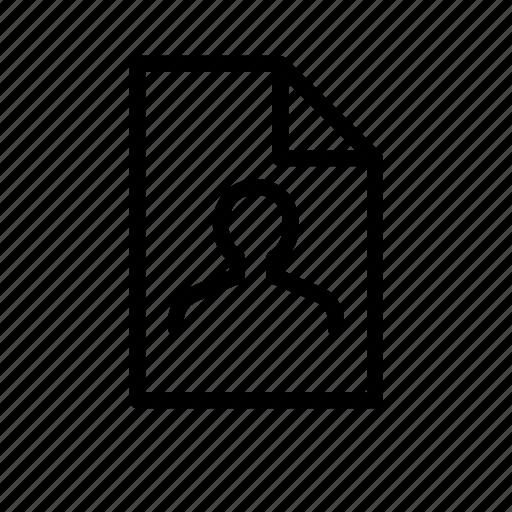 address, businesscard, data, document, file, person, profile icon