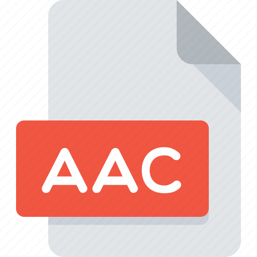 aac, audio, document, extension, file, music, type icon