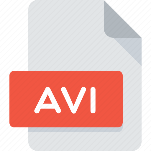 avi, document, extension, file, type, video icon