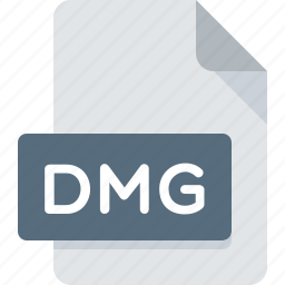 dmg, document, extension, file, type icon