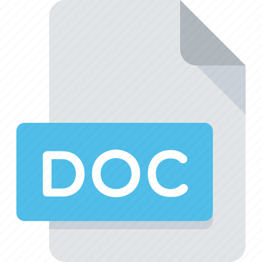 doc, document, extension, file, text, type, word icon