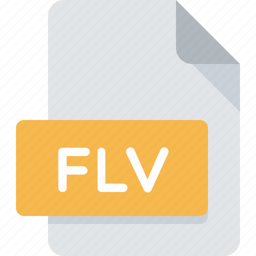 animation, document, extension, file, flash, flv, type icon