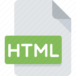 document, extension, file, html, type, web icon