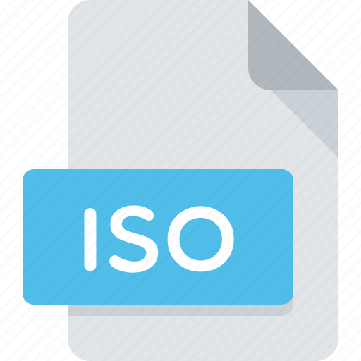 document, extension, file, iso, type icon