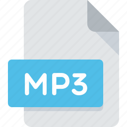 audio, document, extension, file, mp3, music, type icon