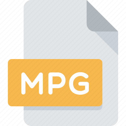 document, extension, file, media, mpg, type icon