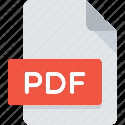 acrobat, adobe, document, extension, file, pdf, type icon