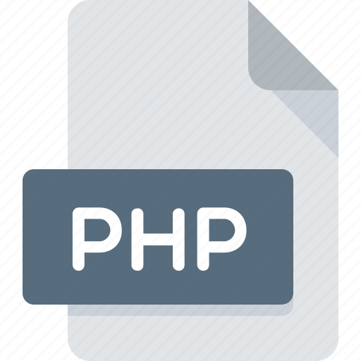 document, extension, file, php, type icon
