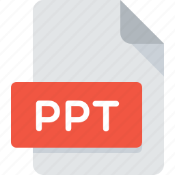 document, extension, file, ppt, presentation, type icon