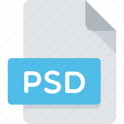 document, extension, file, photoshop, psd, type icon