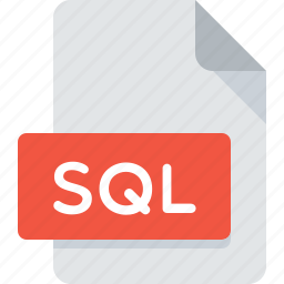 document, extension, file, sql, type icon