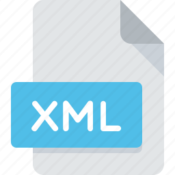 document, extension, file, type, xml icon
