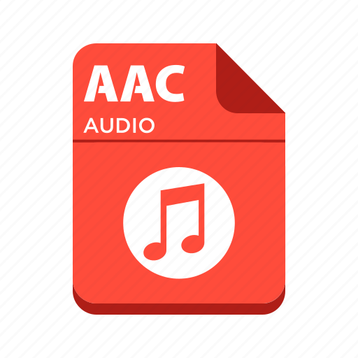 aac, audio file, file, types icon