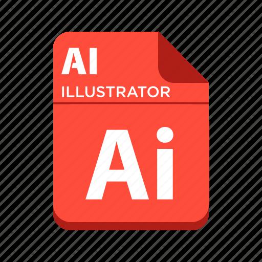file, illustrator file, picture file, types icon
