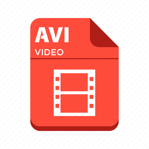 avi, file, types, video file icon