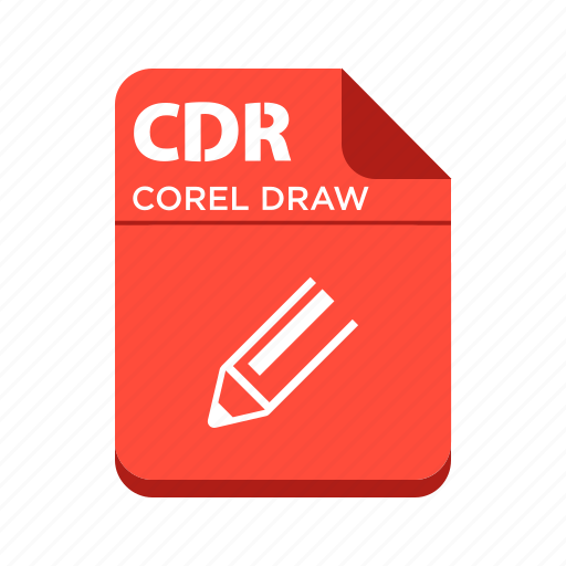 cdr, corel draw, file, image file, types icon