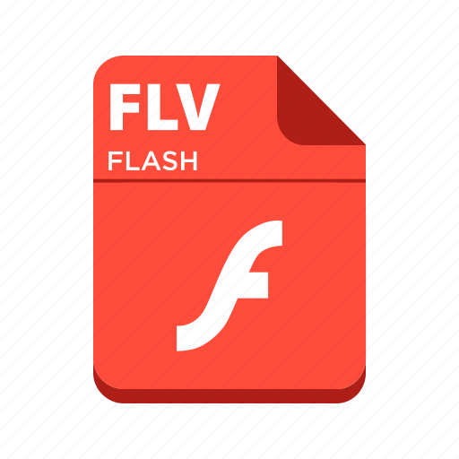 file, flash file, flv, types icon