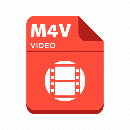 file, m4v, types, video file icon