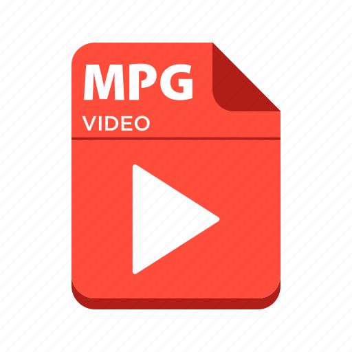 file, mpg, types, video file icon