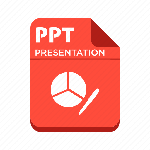 file, ppt, presentation, types icon