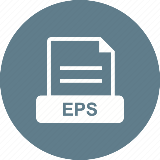eps, extension, file, for, graphics icon