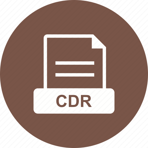 cdr, file, for, format, graphics icon