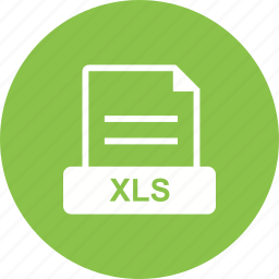 file, format, spreadsheet, xls icon