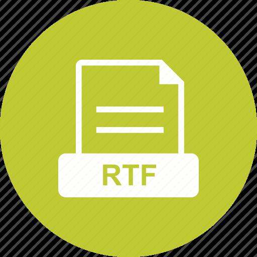 file, format, proprietary, rtf icon