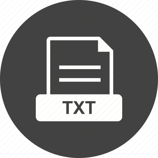 file, format, plain, text, txt, with icon