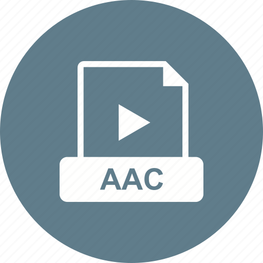 aac, file, format, video icon