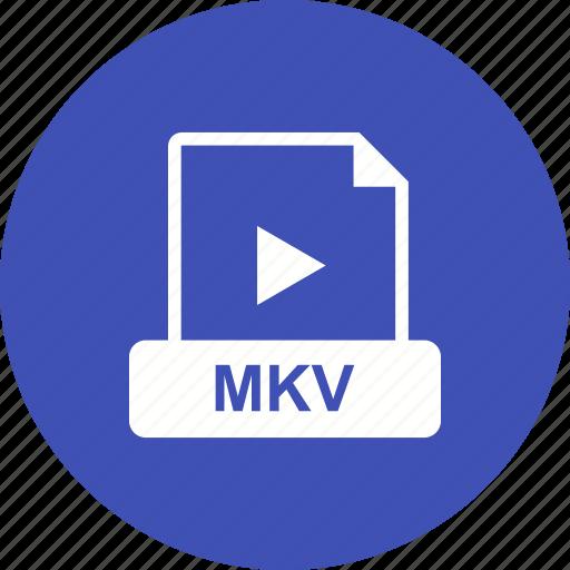 file, format, mkv, video icon