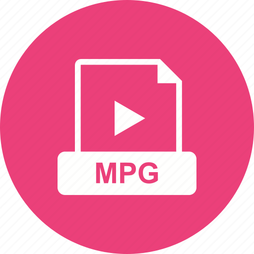file, format, mpg, video icon