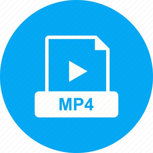 file, format, mp4, video icon