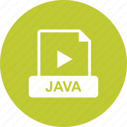 file, format, java, video icon