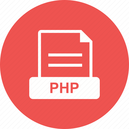 code, extension, file, php icon