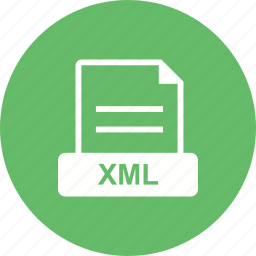 design, format, language, xml icon