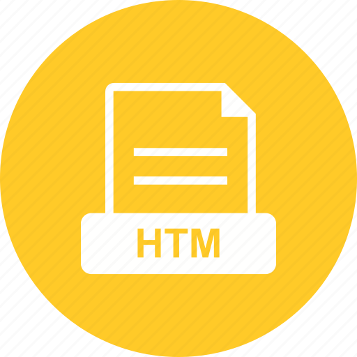 extension, file, format, htm, html icon