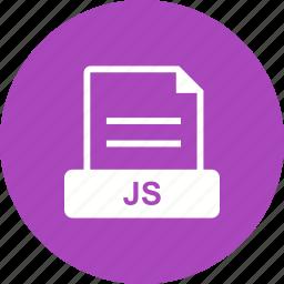 file, format, java, js, script icon
