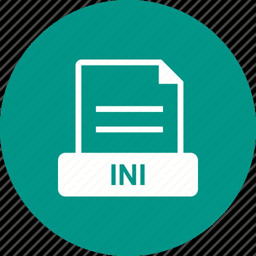 ascii, file, format, ini, plain text icon