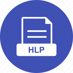 format, help, hlp, online icon