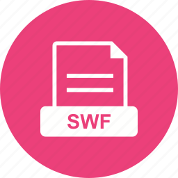extension, file, flash, shockwave, swf icon